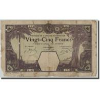 French West Africa, 25 Francs, 1923, KM:6d, 1923-07-12, AB+ - Billets