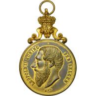 Belgique, Medal, Leopold II , Koning, 1900, SUP+, Copper Gilt - Other