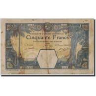 French West Africa, 50 Francs, 1929, KM:9Bc, 1929-03-14, B - Billets