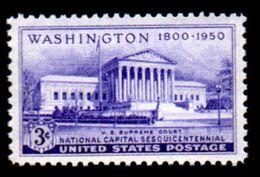 USA, 1950, Scott #991, The Supreme Court Bldg, 3c,  MNH, VF - United States
