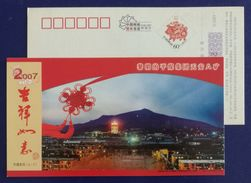 Coal Mountain Well,China 2007 Pingmei Coal Group Tian'an 8 Mine Area Advert Pre-stamped Card - Minerals