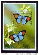 MADAGASIKARA   1395  MINT NEVER HINGED SOUVENIR SHEET OF BUTTERFLIES  #  532-4  ( - Vlinders