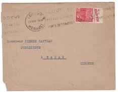 """PUBLICITÉ BANDE PUB DE CARNET """" LISEZ BENJAMIN """" FACHI 272 LETTRE 1931 OMEC LODEVE HERAULT PORTE DES CAUSSES - Postmark Collection (Covers)"""