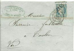 LETTER 1871  LYON - Marcofilia (sobres)