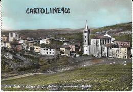 Lazio-viterbo-orte Scalo Chiesa Di S.antonio E Panorama Parziale Orte Veduta Anni 50/60 - Italia