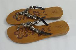 Wooden Women's Sandals 23,5 Cm. / Eur 37 - Theatre, Fancy Dresses & Costumes