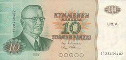 FINLAND 10 MARKKAA 1980 P-112a AU/UNC SIGN. LINDBLOM & MAKINEN [FIN112a25] - Finland