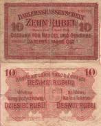 WWI (Germany - Occupation Lithuania) 10 (1916) RUBEL Pick R124 TB- - [ 9] Territori Tedeschi Occupati