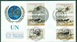 O N U . FDC : NY 438/9 GENEVE 133/4 VIENNE 51/2 (thème Chevaux ...) Ttb . - Collections, Lots & Séries
