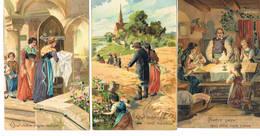 J ONZE VADER  NOTRE PERE  8 Cartes 8 Kaarten - Christianisme