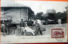 CONGO LOANGO LE CAPITAINE MARCHAND ET GERMAIN A LOANGO  EXPLORATEURS COLONISATION CACHET AMBULANT - Ansichtskarten
