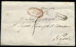 Castel Di Sangro-00188a - Piego (senza Testo) Del 3 Gennaio 1842 - - 1. ...-1850 Prefilatelia