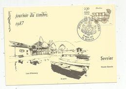Cp , 74 , SEVRIER , Haute Savoie , Journée Du Timbre , 1987 , Vierge , Le Port , Lac D'Annecy - Otros Municipios