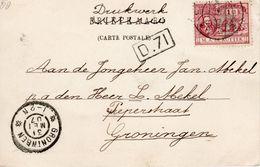 1907 Mooie Ansicht Van Zwolle Met NVPH 88 Naar Groningen - Periode 1891-1948 (Wilhelmina)