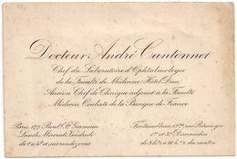Docteur André Cantonnet 177 Boulevard Saint-Germain Paris - Visiting Cards