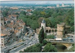 Metz: CITROËN GS & 2CV AZU, CAMIONS, AMI, RENAULT 4-COMBI, SIMCA 1100  - Le Pont Sur La Seille Et La Porte Des Allemands - PKW