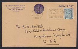 India 1954 Don Bosco Orpanage Cover BODHISATVA Stamp  To United States # 23407 - 1950-59 Republic