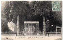 Somme -  CHAULNES - A La Grille Du Château - 1907 - Chaulnes