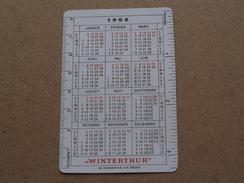 """1952 """" WINTERTHUR ASSURANCES """" Bruxelles ( Ed. Zinniker / Voir Photo Pour Detail )! - Calendars"""