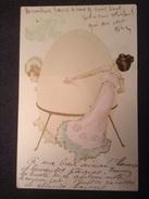 CPA Illustration RAPHAEL KIRCHNER - Femmes à L'oeuf De Pâques - Dorure - Kirchner, Raphael