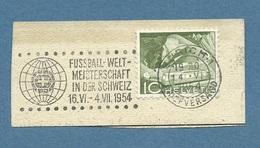SPORT CALCIO  CAMPIONATI MONDIALI IN SVIZZERA  1954 ANNULLO SPECIALE A TARGHETTA  RR - 1954 – Schweiz