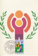 Carte  Maximum  1er  Jour  ANDORRE    Année  Internationale  De  L' Enfant    1979 - Maximumkarten (MC)