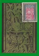Carte  Maximum  1er  Jour  ANDORRE    Retable  De  Saint  Jean  De  CASELLES     1970 - Maximumkarten (MC)