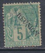 Réunion N° 20 O Timbres Des Colonies Françaises Surchargés : 5 C. Vert Oblitération Légère Sinon TB - Used Stamps