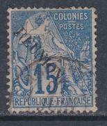 Réunion N° 22 O Timbres Des Colonies Françaises Surchargés : 15 C. Bleu Oblitération Légère Sinon TB - Used Stamps