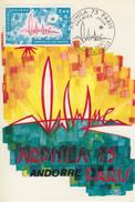 Carte  Maximum  1er  Jour  ANDORRE   Exposition  Internationale   ARPHILA  75  PARIS     1975 - Maximumkarten (MC)