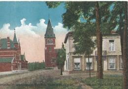 Beverlo Bourg Leopold Zicht Van Den Post En Der Kerk  Vue De La Poste Et De L'Eglise - Belgien