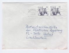 1978 SWEDEN COVER Stamps RELIGION To Liechtenstein Christianity - Christianity