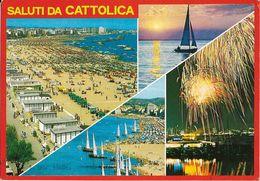 Emilia Romagna-rimini-saluti Da Cattolica Vedute Cattolica New - Autres Villes