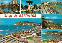 Emilia Romagna-rimini-cattolica Saluti Da Cattolica Vedute New - Autres Villes