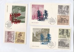 1976 VATICAN FDC SET Of 3 COVER , Architecture Fountain Stamps - FDC