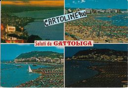 Emilia Romagna-rimini-cattolica Saluti Da Cattolica Vedute - Autres Villes