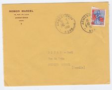 1960 Armentieres FRANCE Stamps COVER - Covers & Documents