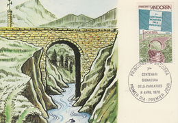Carte  Maximum  1er  Jour  ANDORRE   7éme  Centenaire  De  La  Signature  Des  Pareatges   1978 - Maximumkarten (MC)