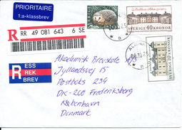 Sweden Registered Cover Sent To Denmark Älmhult 25-10-2000 - Sweden