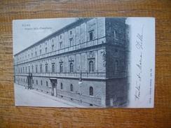 """Italie , Roma , Palazzo Della Cancelleria  """" Beau Petit Timbre Et Cachets 1906 """""""" - Roma (Rome)"""