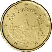 San Marino 2017  20 Cent  Met De Nieuwe Afbeelding - Nouvelle Représentation UNC Uit De Rol - UNC Du Rouleaux . - San Marino
