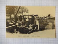 CPA - CANAL DE CENTRE - FAMILLE BERRICHONNE - REPRODUCTION - R3508 - Houseboats