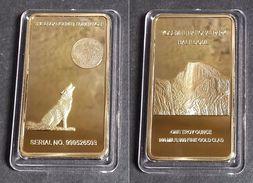 1 Lingot Plaqué OR ( GOLD Plated Bar ) - Loup Wolf Yosemite Park - Monnaies