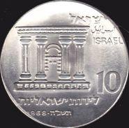 Israel, 10 Lirot 1968 - Argent /silver - Israel