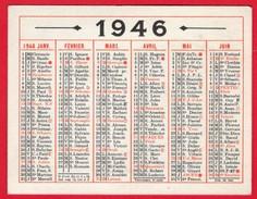 -- PETIT CALENDRIER OBERTHUR DE 1946 -- - Calendriers