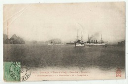 """257  - Tonkin - Baie D'Along - Escadre """"Pascal"""" """"Chateaurenaud"""" """"Montcalm"""" Et """"Gueydon""""  Bateaux De Guerre - Viêt-Nam"""