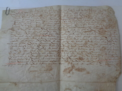 DE LESTREUX.Parchemin.31 X 25 Cm.1590. - Documents Historiques