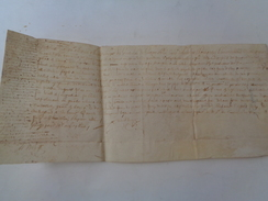 NICOLAS LOUIS DE GUIERCHE DE GROZON.Rente Annuelle Au Profit De.Parchemin.41 X 18 Cm.1620. - Documents Historiques