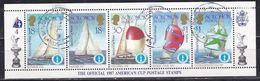 Isole Salomone, 1987 - America's Cup, Foglio Di 5 - Nr.573a 537b 537e  537g 537h - Usato° - Isole Salomone (1978-...)