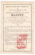 DP Brigadier Regiment Jagers Te Paard 18j. Hubert N. Maquet ° Erquelinnes 1865 † Ieper 1883 - Devotion Images